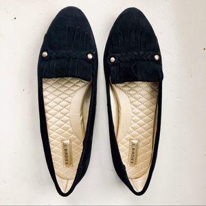 Birdies | Black Suede Loafers